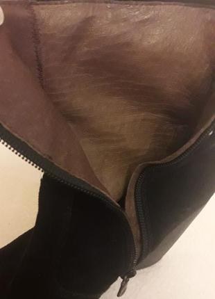 Замшевые ботинки, сапоги на танкетке фирмы nero giardini ( италия) р. 38 стелька 25 см9