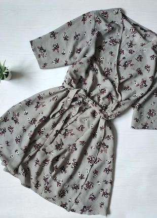 Платье на запах в цветы плаття сукня платя new look миди сарафан