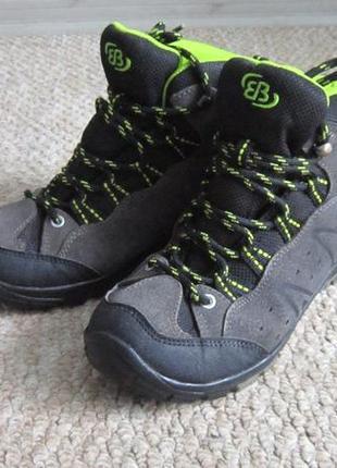 Демисезонные ботинки на мальчика brutting 32-33 р кожаные