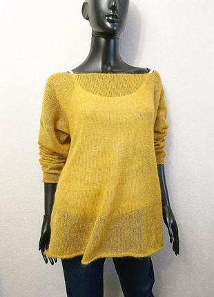 Женский свитер оверсайз с золотом3