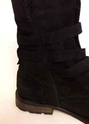 Натуральные замшевые деми ботинки фирмы oxmox p. 41 стелька 26,5см5