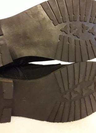 Натуральные замшевые деми ботинки фирмы oxmox p. 41 стелька 26,5см7