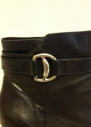 Фирменные кожаные ботильоны, ботинки от ralph lauren p. 39 стелька 25,5 см2 фото