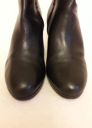 Фирменные кожаные ботильоны, ботинки от ralph lauren p. 39 стелька 25,5 см5 фото