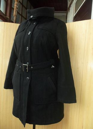 Тёплое немецкое шерстяное пальто с поясом leross 42/442 фото