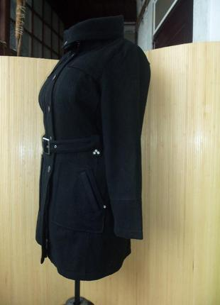 Тёплое немецкое шерстяное пальто с поясом leross 42/443 фото
