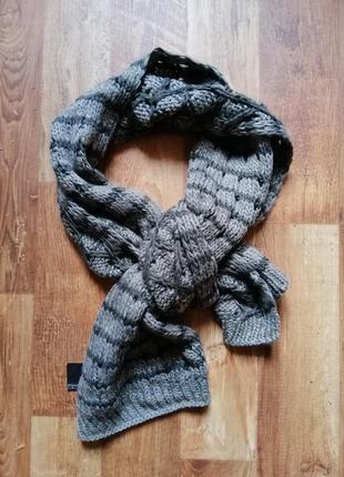 Теплый вязаный шарф размер 30х170 см, 40-26 ю