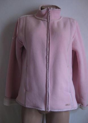 Флисовая куртка- дубленка  e-vie