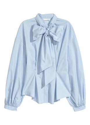 Нежная и женственная рубашка c бантом от h&m