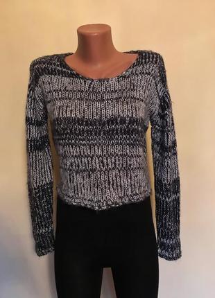 Кроп топ, свитерок вязанный размер с-м