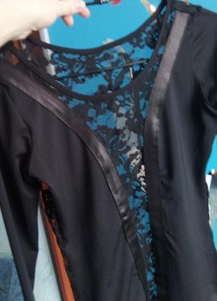 Кофточка, блузка сексі, ажурна спинка, бюст сітка, розмір s