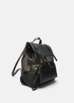 Виниловый рюкзачок zara