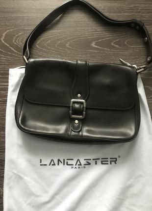 Кожаная сумка lancaster paris crossbody оригинал пыльник