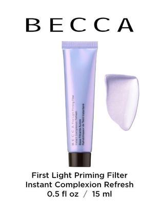 Праймер (база) для лица becca first light priming filter
