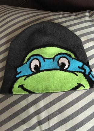 Супер шапка с черепашкой нинзя