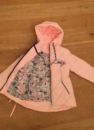 Весенняя куртка на девочку, новая коллекция
