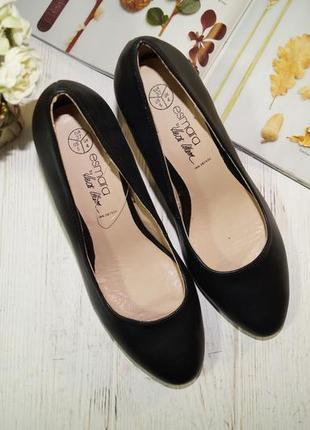 Esmara! кожа! красивые базовые туфли лодочки актуального фасона5