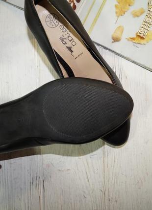 Esmara! кожа! красивые базовые туфли лодочки актуального фасона4