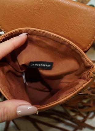 Atmosphere. стильная сумка с бахромой, кросс-боди3 фото