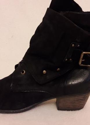 Стильные кожаные ботинки фирмы varese p. 41 стелька 27 см