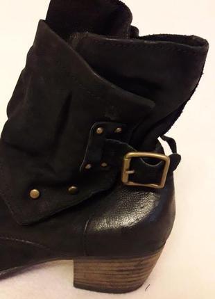 Стильные кожаные ботинки фирмы mjus ( италия) p. 41 стелька 26,5 см4 фото