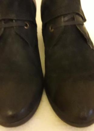 Стильные кожаные ботинки фирмы mjus ( италия) p. 41 стелька 26,5 см6 фото