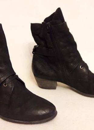 Стильные кожаные ботинки фирмы mjus ( италия) p. 41 стелька 26,5 см7 фото