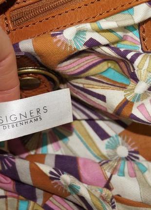 Debenhams. кожа. классная сумка средних размеров4 фото