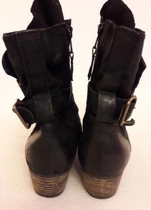 Стильные кожаные ботинки фирмы mjus ( италия) p. 41 стелька 26,5 см8 фото