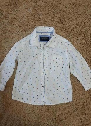 Хлопковая белоснежная рубашка для мальчика от mayoral
