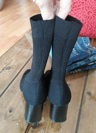 Крутые полусапожки чулочные ботинки носок  zara2