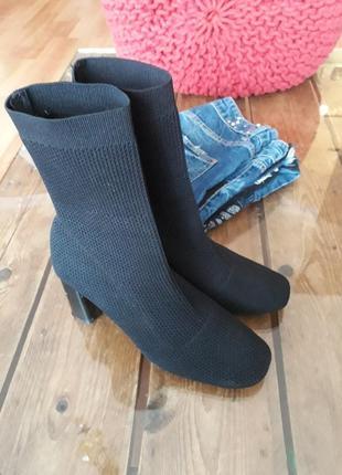 Крутые полусапожки чулочные ботинки носок  zara3