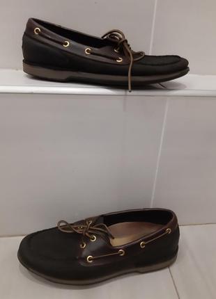Кожаные туфли топсайдеры rockport 41 размер