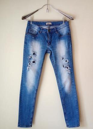 Рваные джинсы okeysi