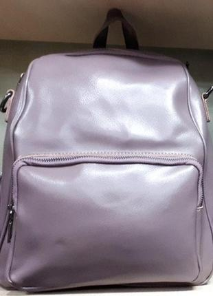 Рюкзак , натуральная кожа,бренд .черный и пудра .