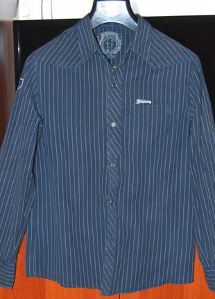 Модная мужская рубашка к джинсам 100 % котон