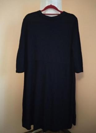 Шикарное платье из вискозы с оборкой из шелка cos