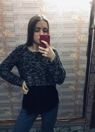 ❣️шикарный свитер с имитацией блузы по низом next