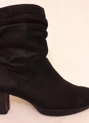 Натуральные кожаные ботинки фирмы gabor p. 39 стелька 25,5 см1 фото