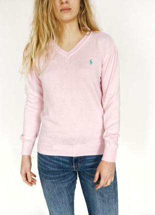 Красивый светло розовый свитер поло polo ralph lauren, размер с