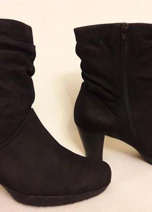 Натуральные кожаные ботинки фирмы gabor p. 39 стелька 25,5 см2 фото