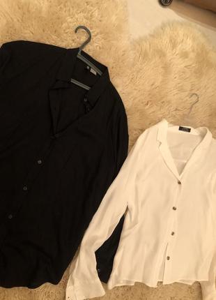 Белая блузка 🐾 чёрная блузка💗