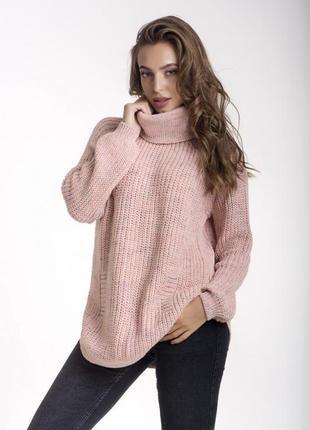 Шерстяной свободный свитер с горлом, pr8450, турция, размер 44-48, цвета