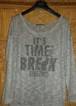 Cтильный свитшот, reserved . реглан it's time for a break. l. сток