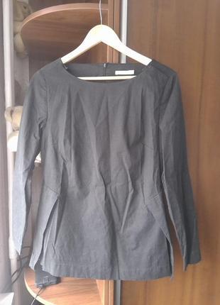 Шведская хлопковая! стильная блузка! интересного фасона! wera. оригинал