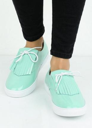 Мятные лаковые туфли!
