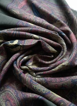 Красивый итальянский шерстной платок.  платок hermes loro piana оригинал