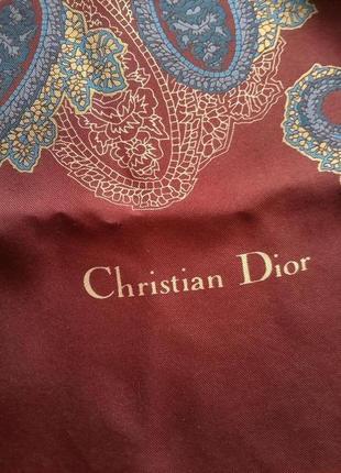 100% шелк. шарф christian dior. оригинал. шов рауль