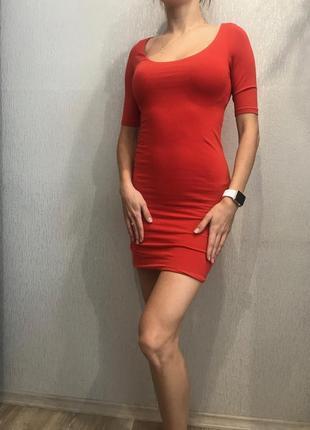 Трикотажное платье2