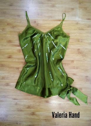 Мега скидка 70%!!! атласный топ - блуза в бельевом стиле gina- размер 42-44